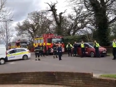 Emergency services gather to sing happy birthday to 10-year-old