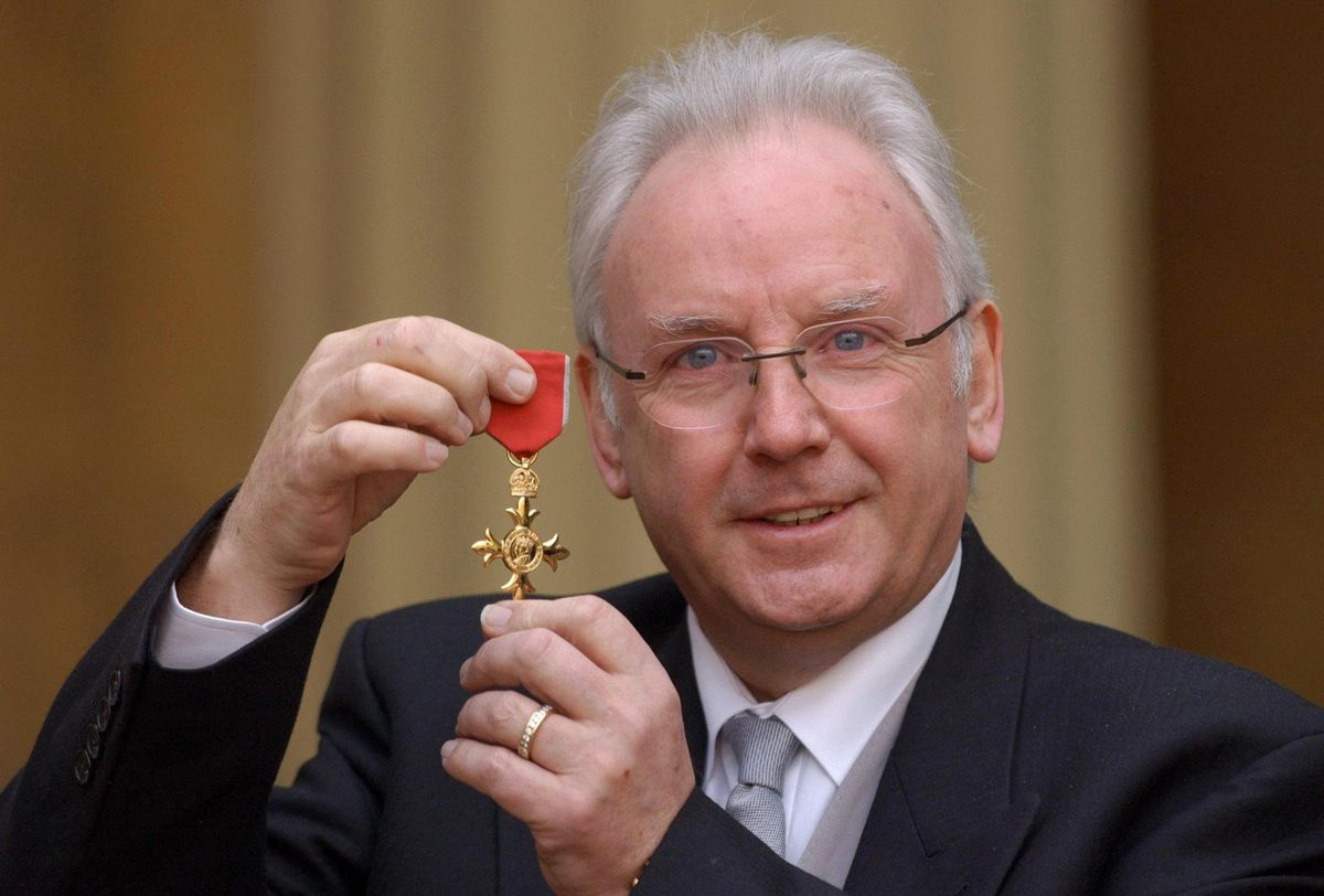 Pete Waterman after collecting an OBE for services to music in 2005