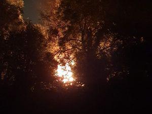 The blaze. Photo: Jenn Rhiannon