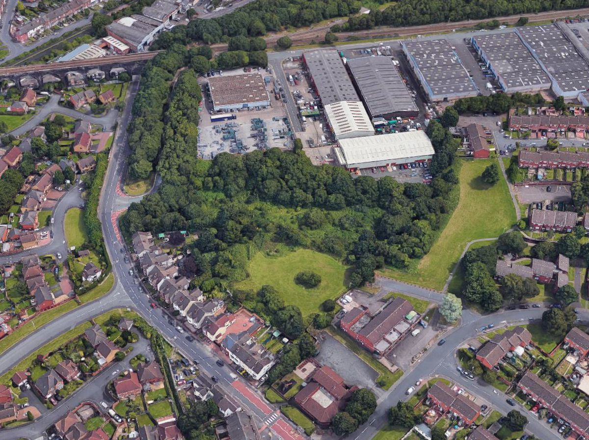 An aerial view showing the land off Gorsebrook Road in Wolverhampton. Photo: Google