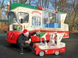 Ice cream seller builds replica van for first grandchild