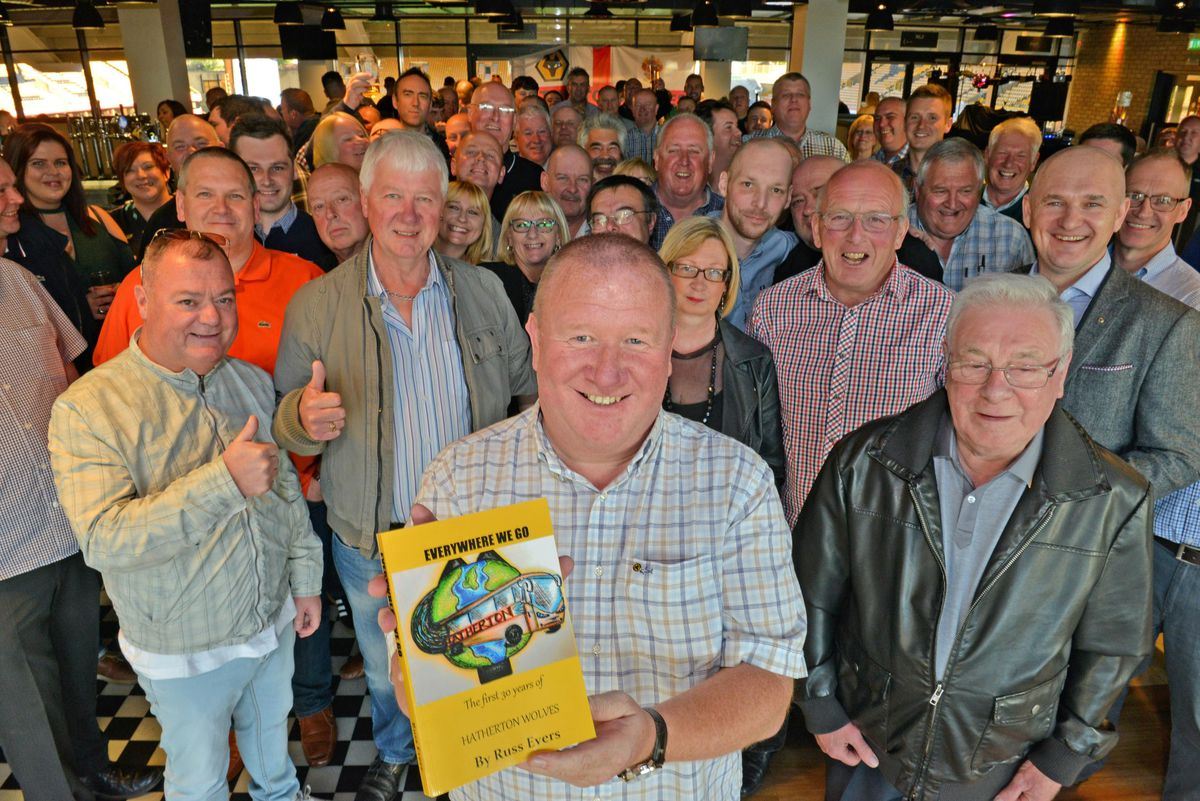 Russ Evers is joined by members of Hatherton Wolves as he launches his new book celebrating the first 30 years of the group