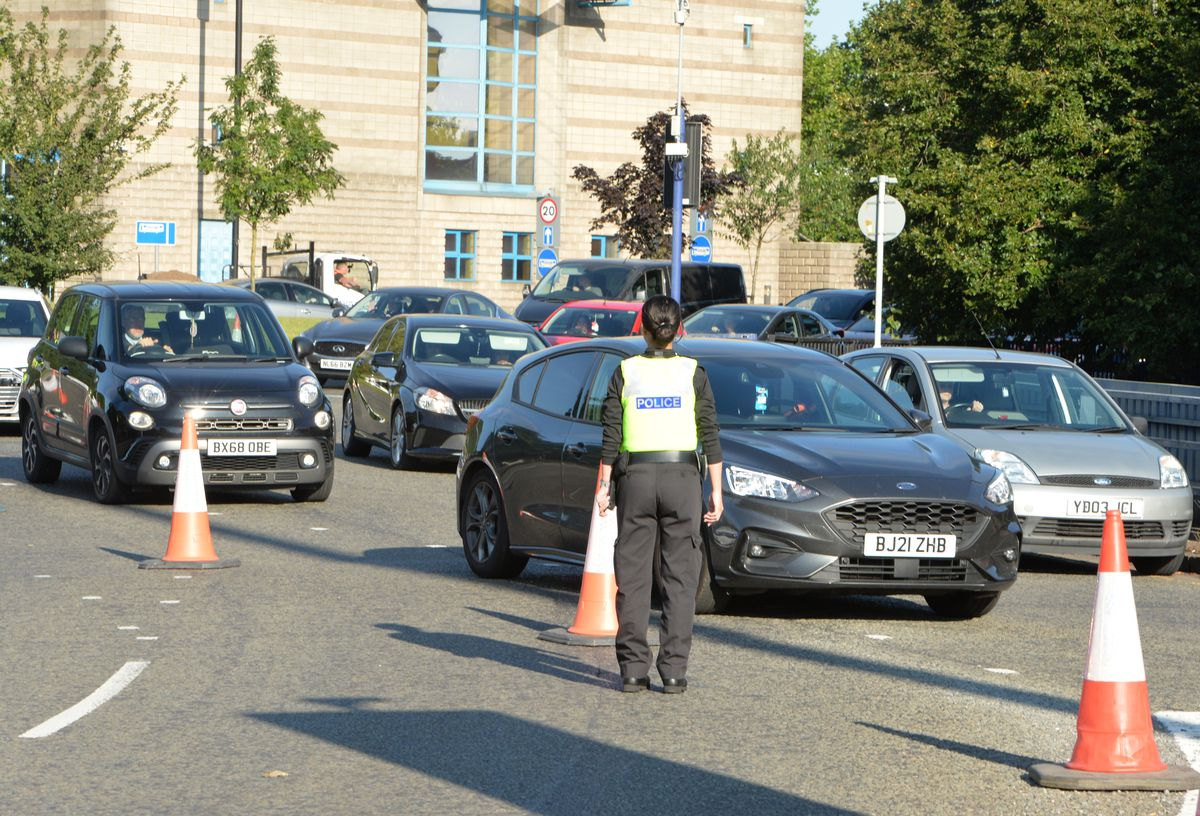 Police helped to manage congestion after the crash