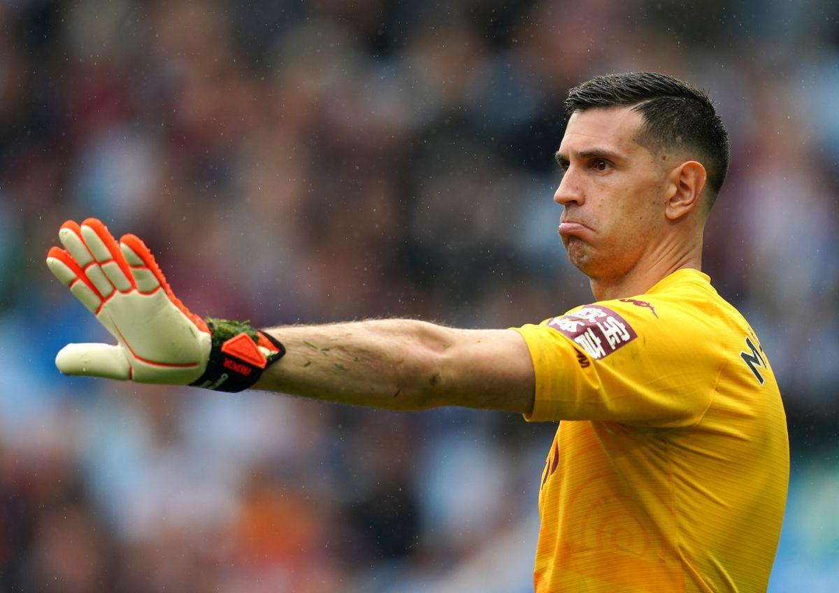 Aston Villa goalkeeper Emiliano Martinez.