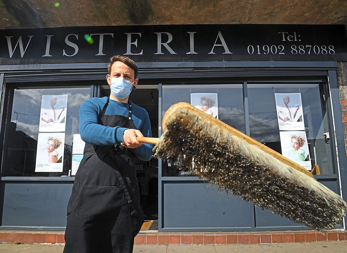 Getting ready to re-open his salon Wisteria is owner Rob Cauldwell