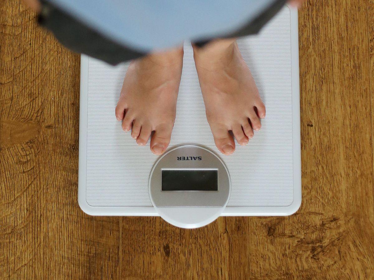 Child being weighed