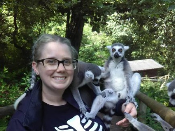 Californian animal lover becomes keeper for a day at Dudley Zoo