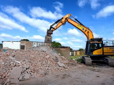 Diggers move in as Wolverhampton school torn down for homes