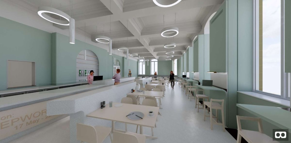A computer generated image of the new cafe. Photo: Wolverhampton Council