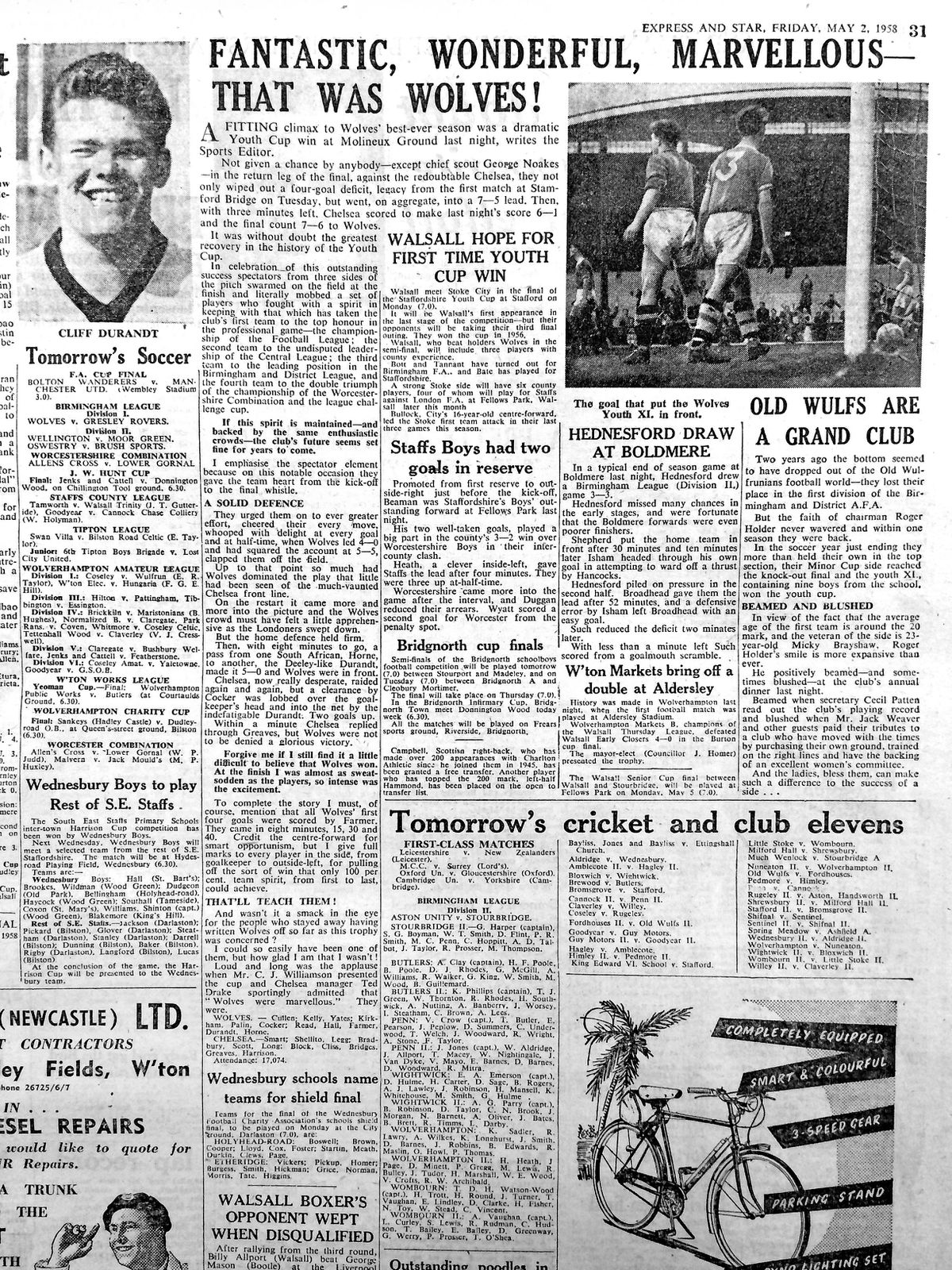 From the Express & Star archives: The Express & Star match report on the cup final