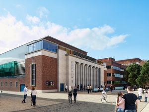 A CGI of how the new Civic halls site will look when it reopens early next year