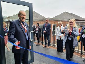Lord Lieutenant John Crabtree OBE opening the new school building at Bristnall Hall Academy