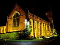 Wolverhampton Grammar School illuminated in old gold for Wolves' FA Cup semi-final