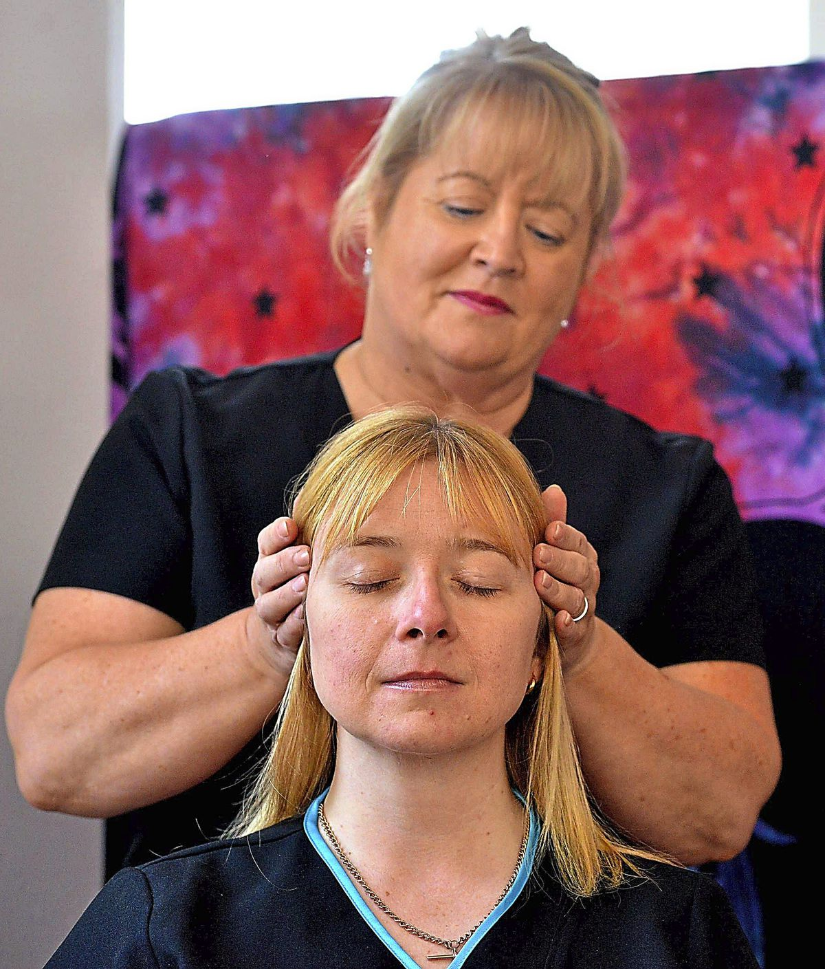 Sally and Tracy also offer Indian head massages
