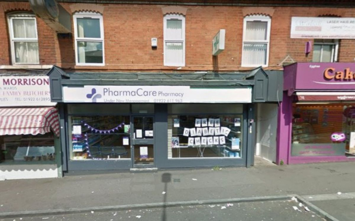 The old Pharmacare shop in Caldmore Green. PIC: Google Street View