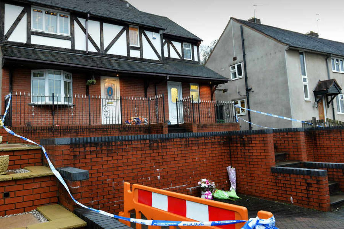The family home on Lodge Crescent cordoned off after the attack