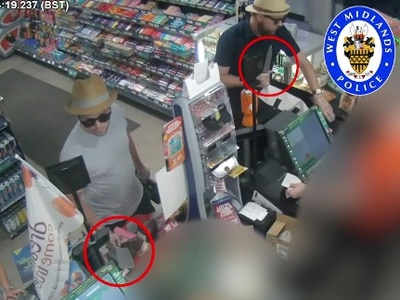 WATCH: Armed robbers wear straw hats and sunnies for Black Country garage raid