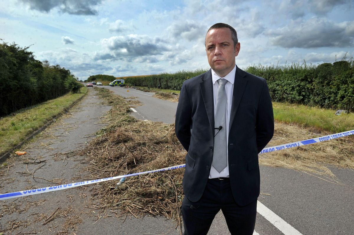 Detective Superintendent Tom Chisholm at the scene where Ms Jerrare was found