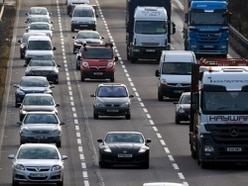 Delays on M6 at Stafford North after crash