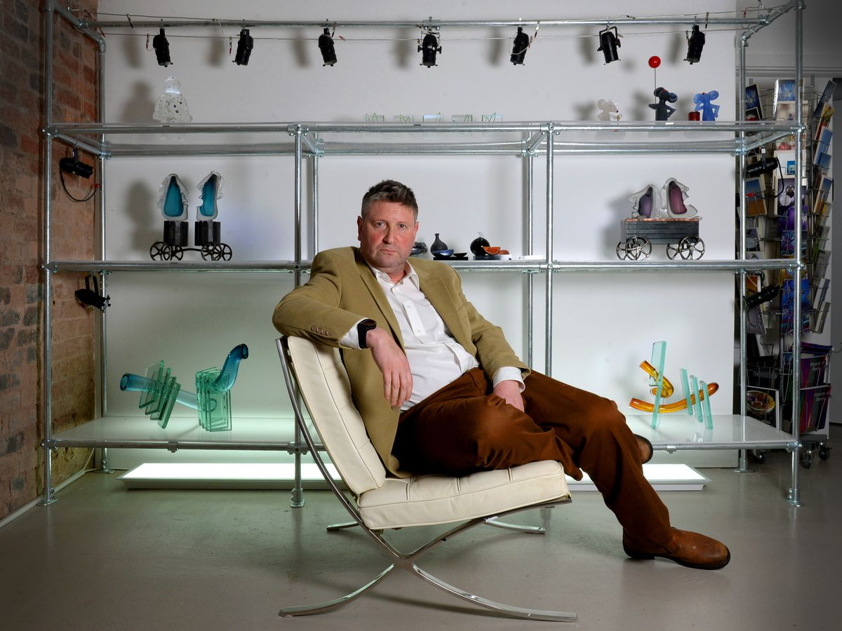 Simon Bruntnell, who has opened a glass exhibition studio at the Stuarts Works, High Street in Wordsley