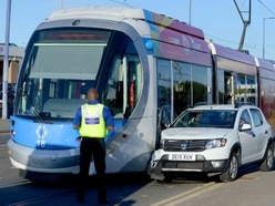 Car and tram collide on A41 Bilston Road in Wolverhampton