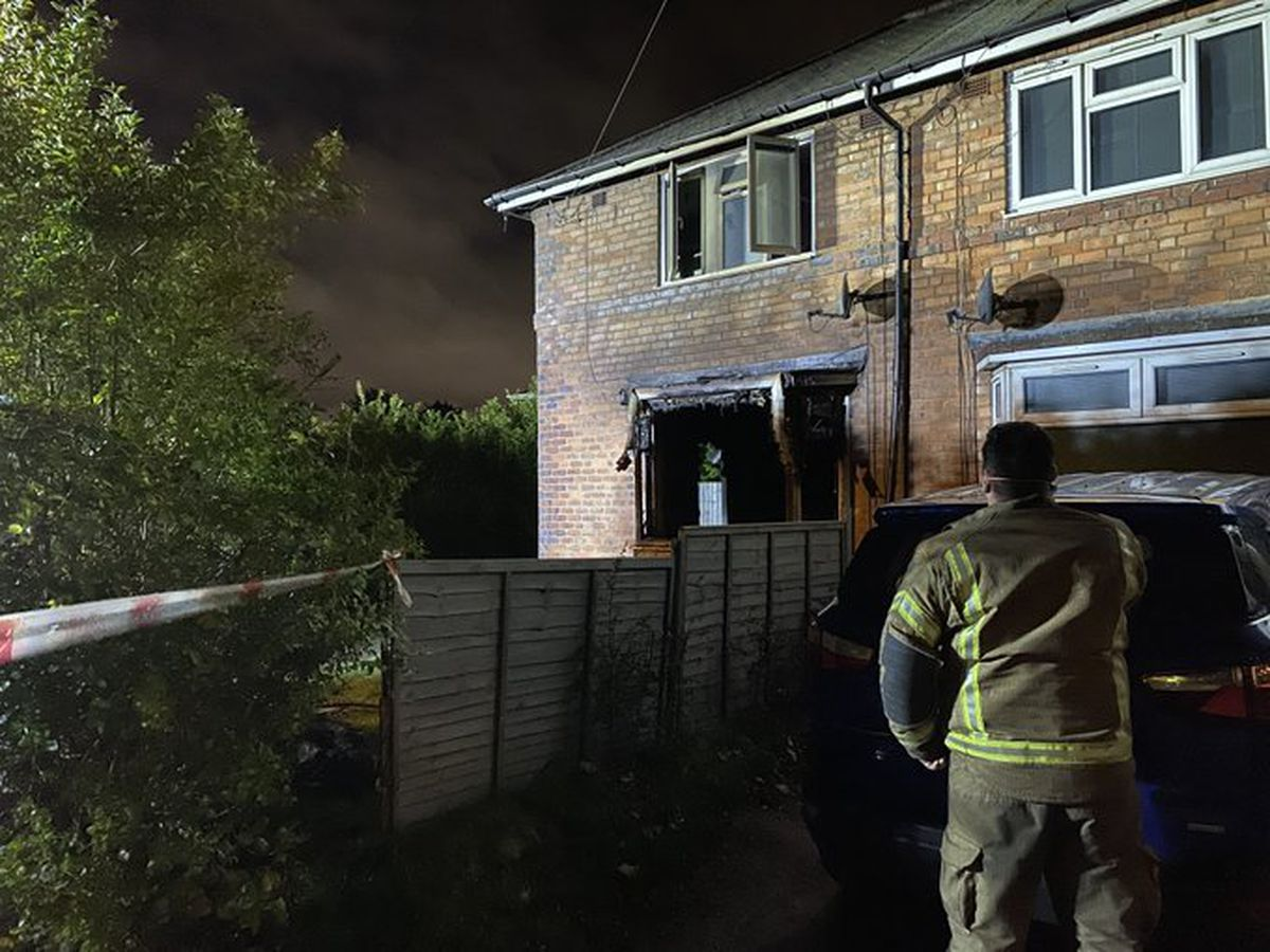 "The house was ""completely destroyed"" by the blaze. Photo: West Midlands Fire Service"