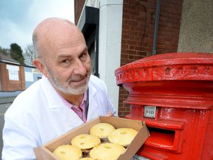 SANDWELL COPYRIGHT EXPRESS&STAR TIM THURSFIELD 24/03/21.Landlord Pete Towler of Mad O'Rourke's Pie Factory, Tipton, has launched a 'pies by post' scheme to help it survive lockdown. They are sending out boxes of six pies for £24 through a new website..