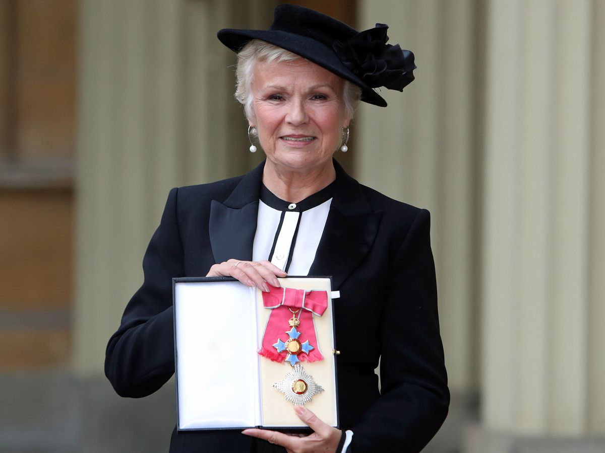 Julie Walters after she made a dame by The Queen at an Investiture ceremony at Buckingham Palace