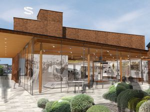 An artist's impression of the proposed new Staffordshire History Centre