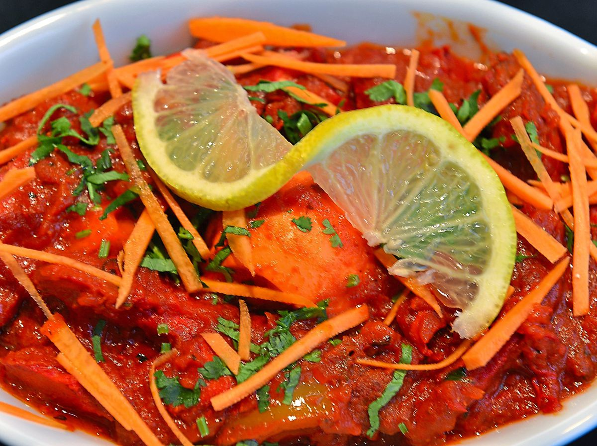 Meating of foods – the tandoori murghi masala mixed lamb and chicken togetherPictures by John Sambrooks