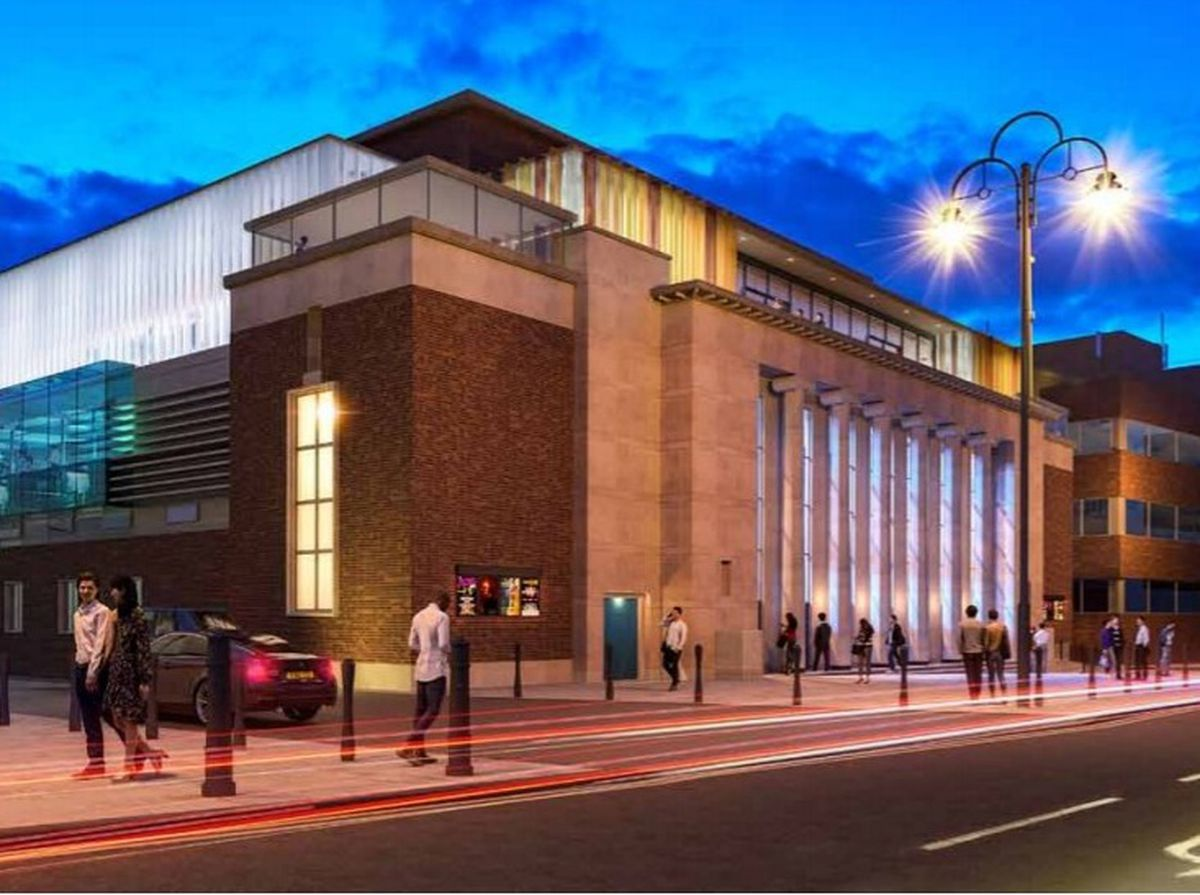 An artist's impression of how the refurbished Wolverhampton Civic Hall will look. Photo: Wolverhampton Council