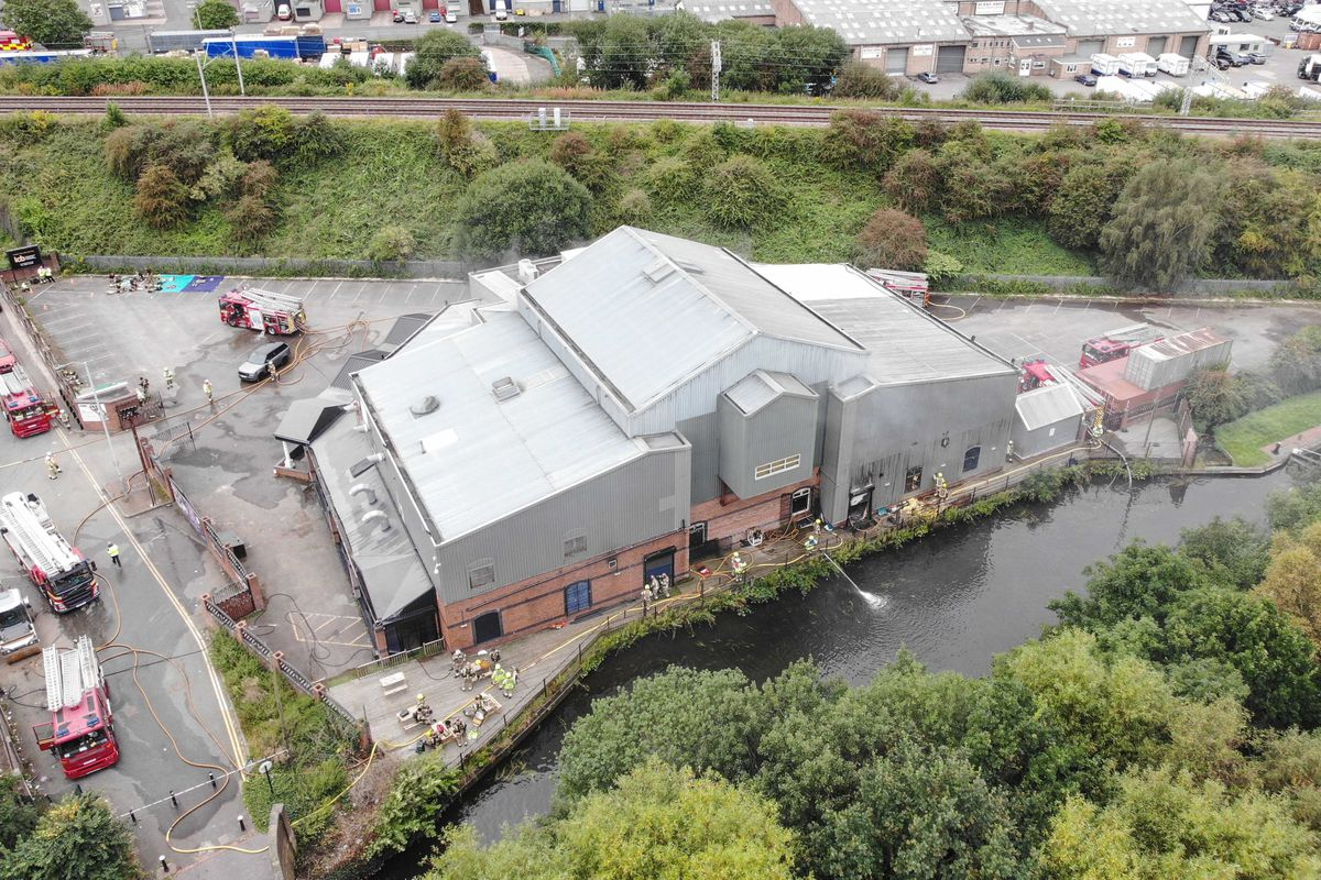 The conference centre is between a canal and a train line. Photo: West Midlands Fire Service