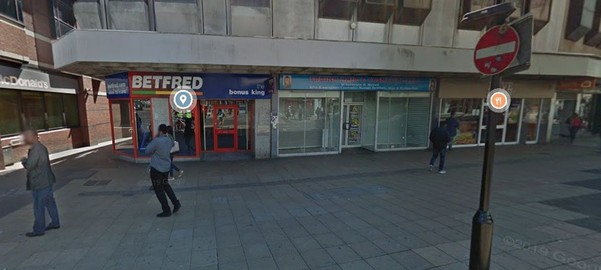 Google Street View image of existing Betfred venue next door to a proposed Admiral adult gaming centre. Credit: Google.