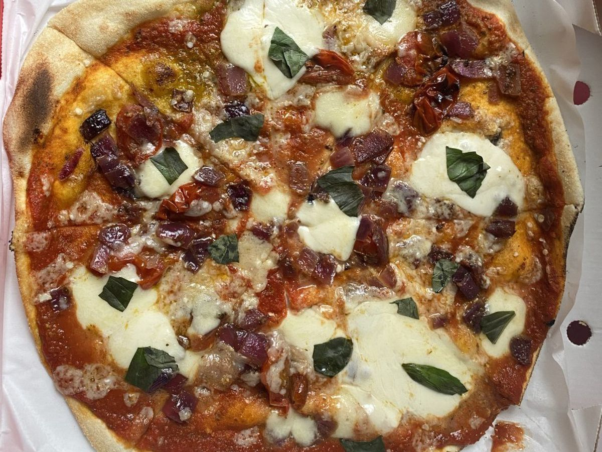 Balsamic vegetable pizza at The Rustic Pizza Company