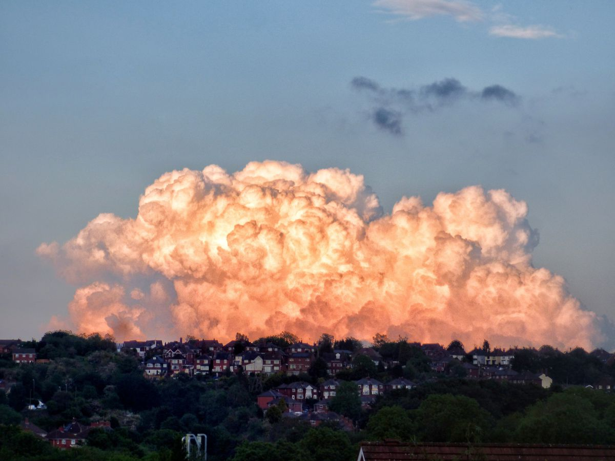 'Popcorn clouds' by Gemma Cross posting as @the_aura_surfer on Instagram. Taken from Haden Hill looking across to Blackheath.