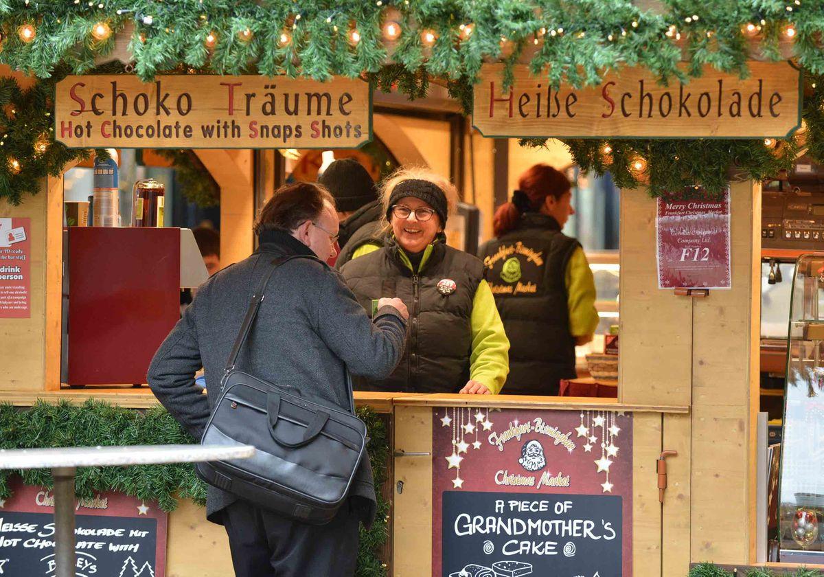 People were feasting on a range of festive treats