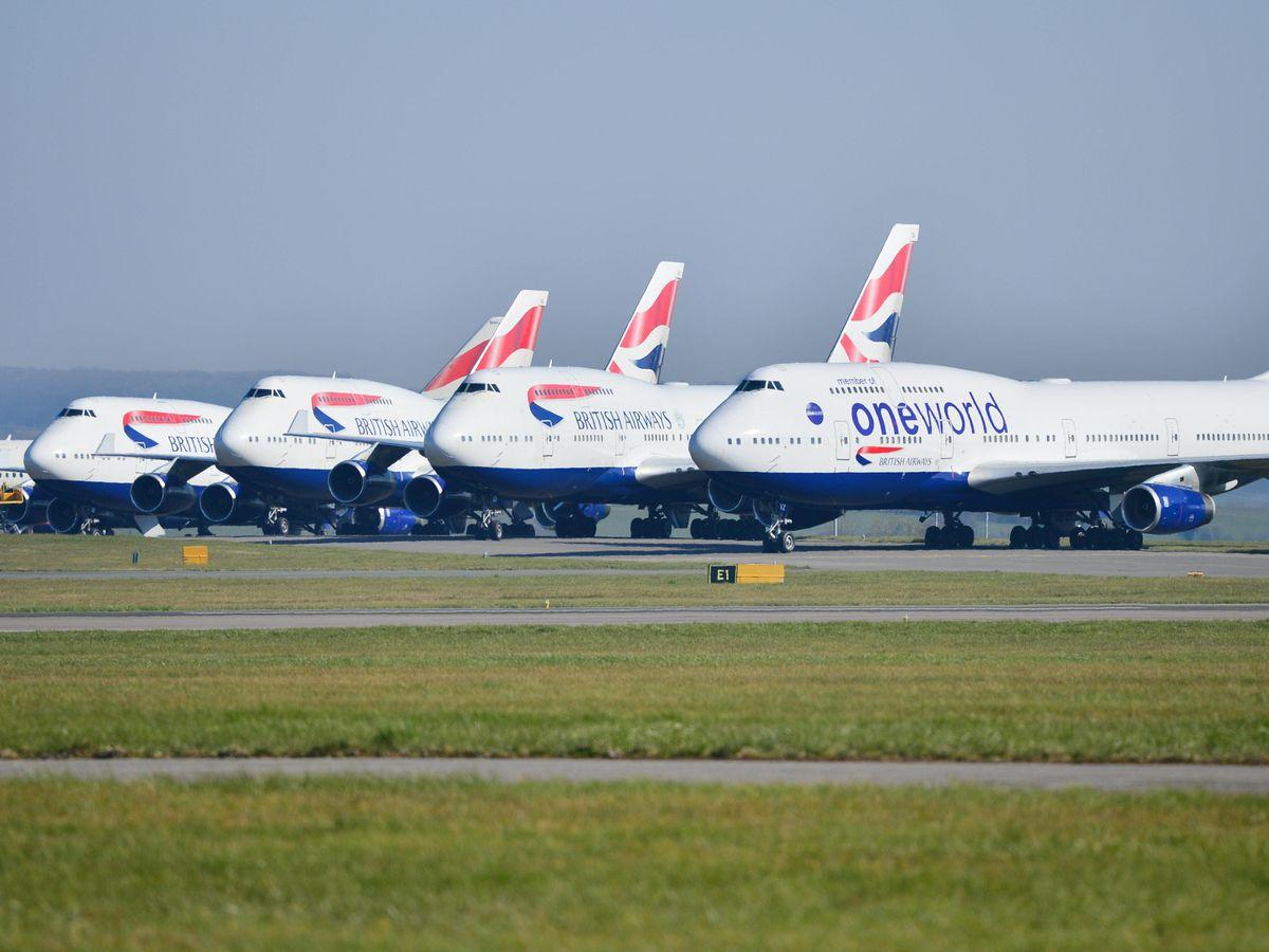 British Airways planes at Cardiff Airport