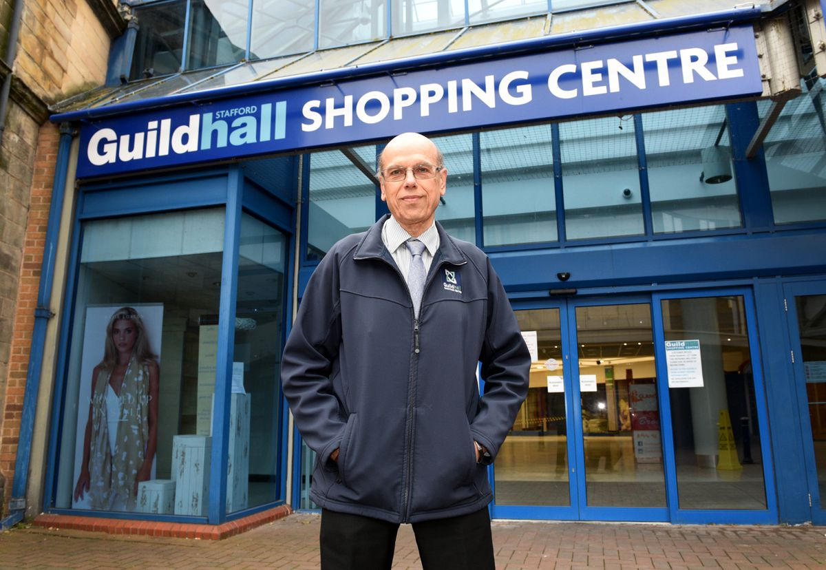 Centre manager George Demetriou outside Guildhall Shopping Centre