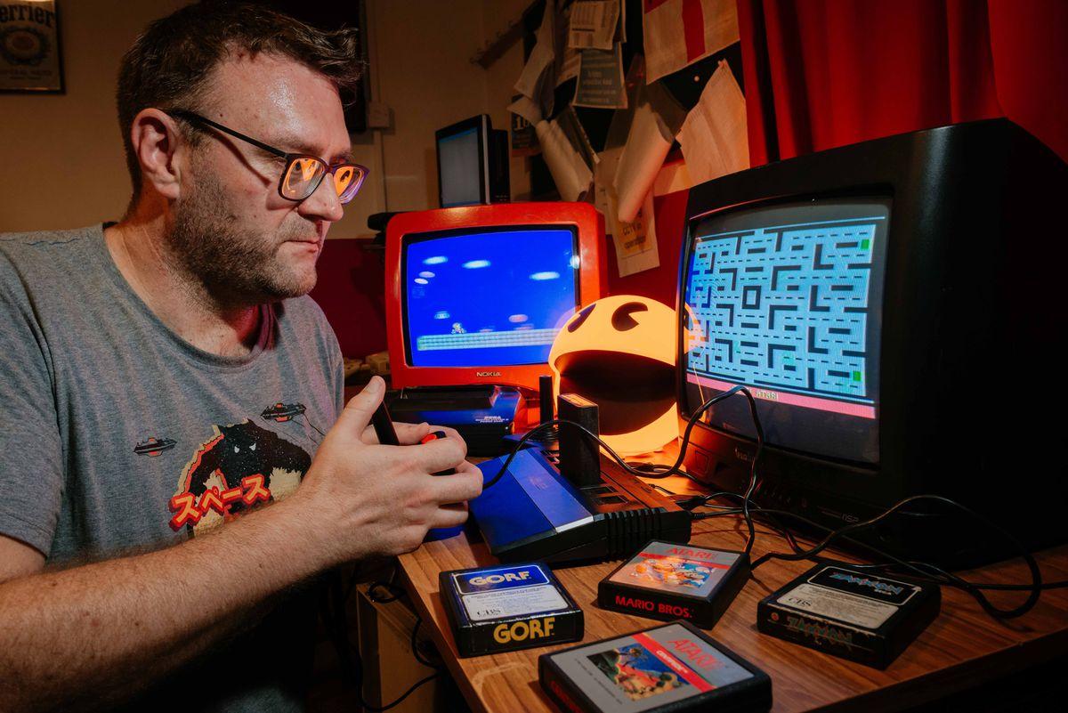 Organiser Darren Clayton takes on his favourite game: Pacman