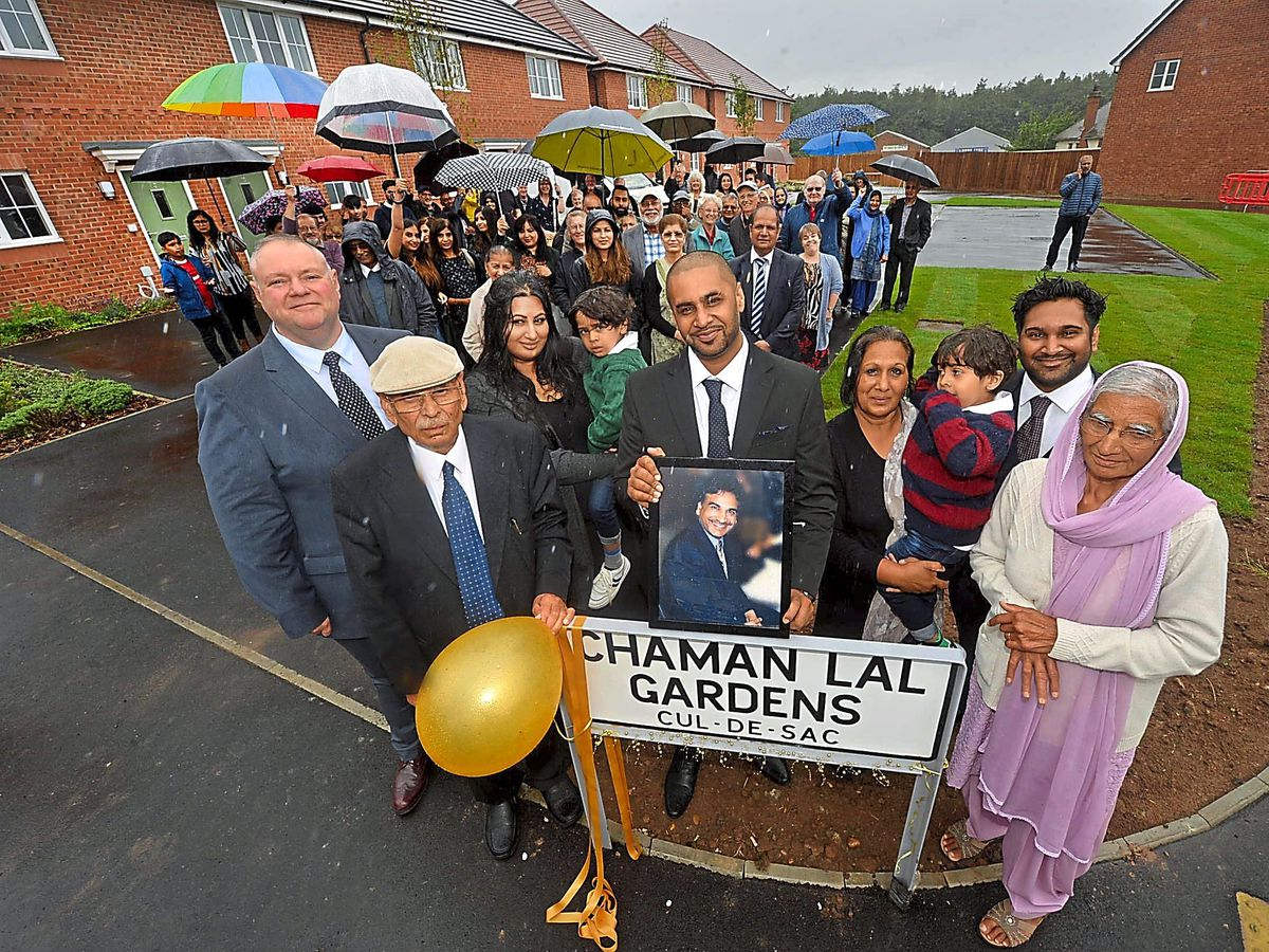 Family, friends and patients attended the naming ceremony in Bilston to honour the much-admired Dr Chaman Lal