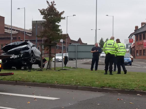 The crash in Cannock. Photo: Richard Pursehouse