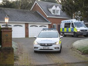 Police at the scene in Trehernes Drive, Pedmore. Photo: SnapperSK