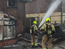 Fire rips through shed spreading to homes in Brownhills