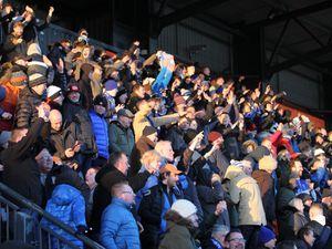 Barnet 1 Halesowen Town 2. picture by Steve Evans. Yeltz fans