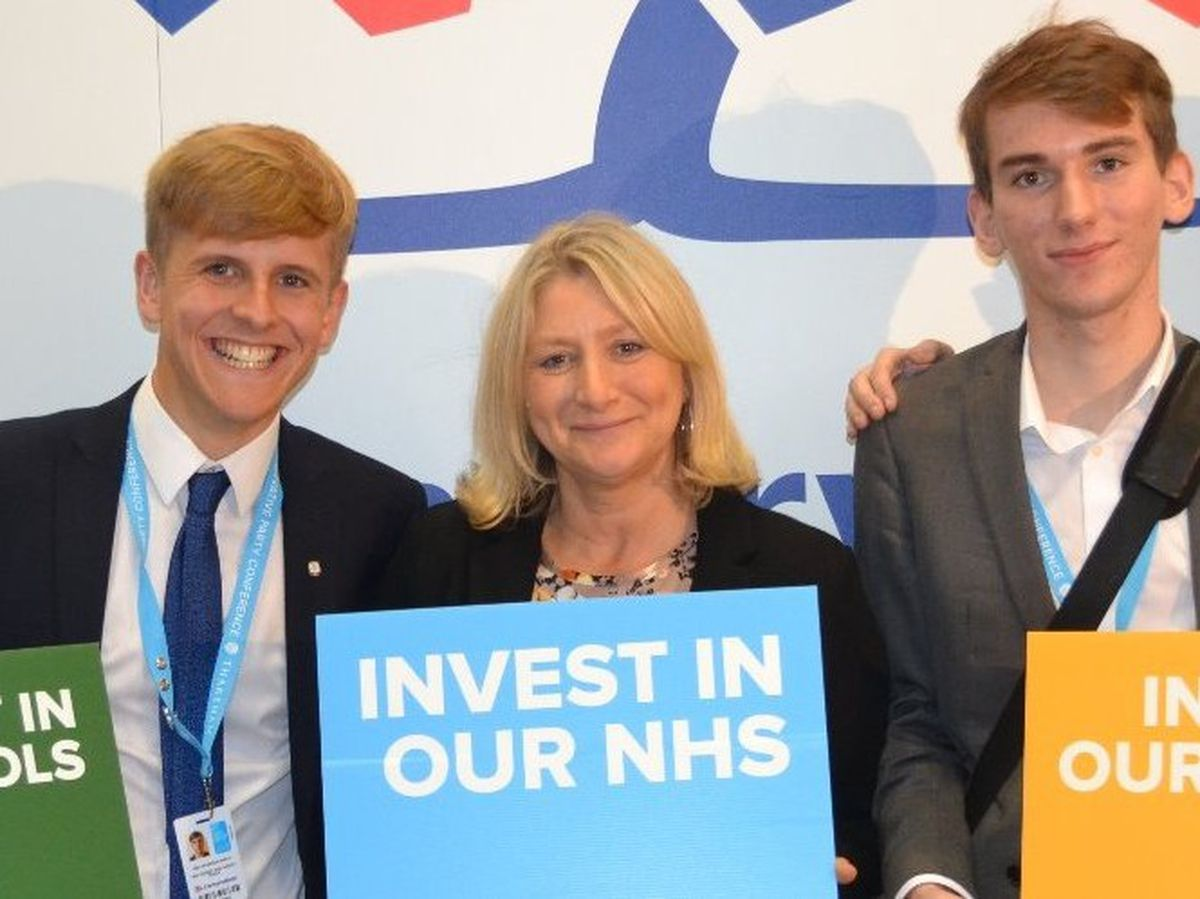 Suzanne Webb (centre) has been selected to fight Stourbridge for the Tories