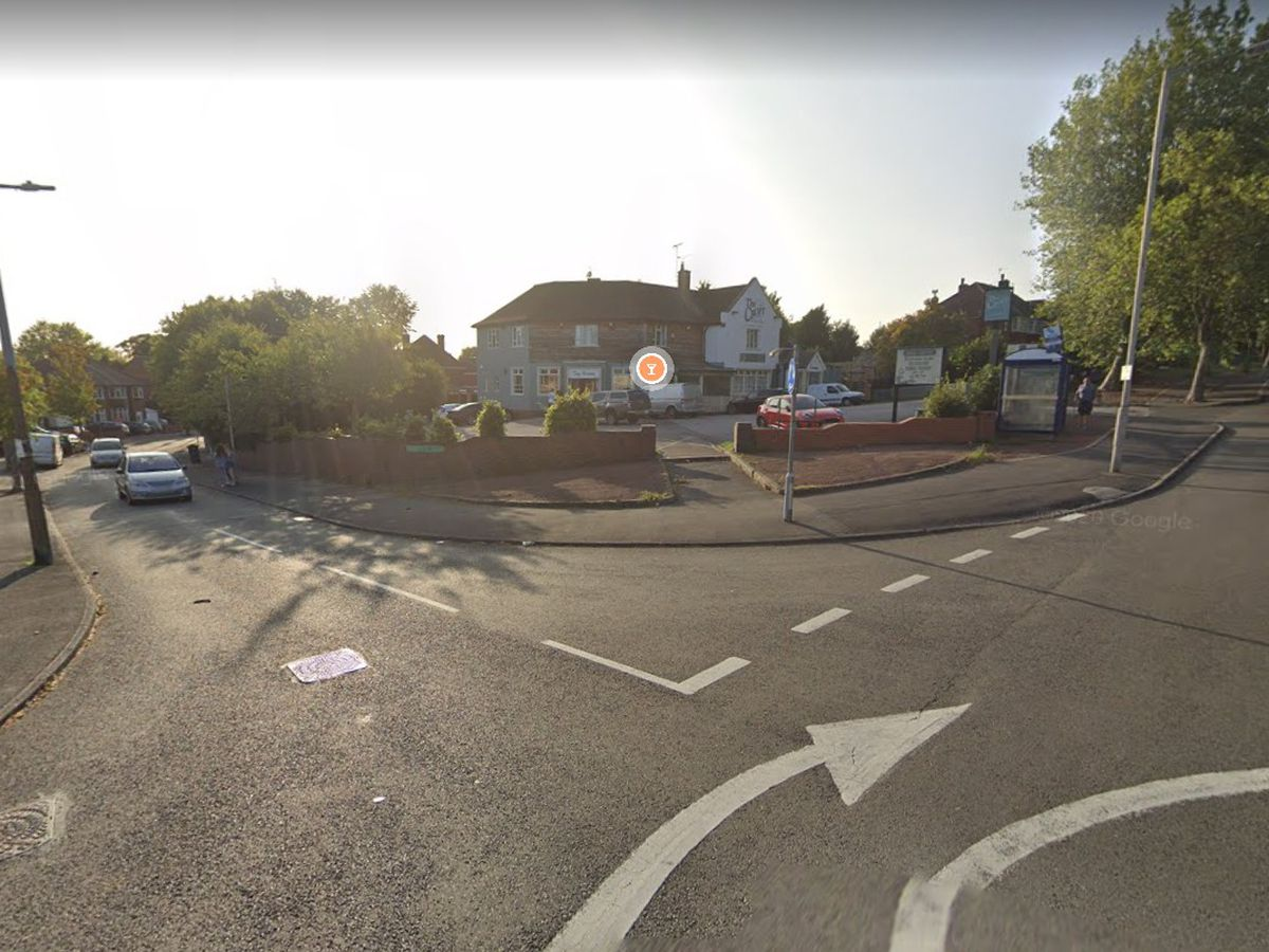 Junction of Hydes Road and Hackwood Road, in Wednesbury. Photo: Google Maps