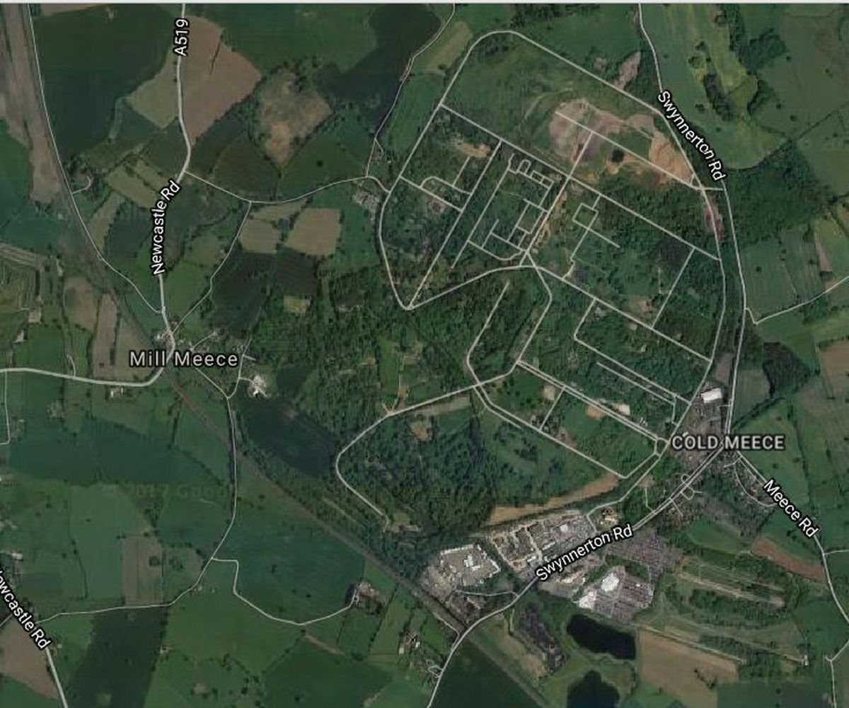 Aerial view of the Swynnerton camp site