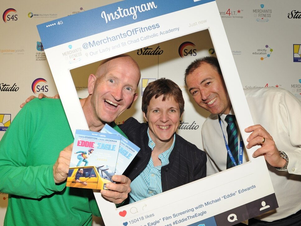 'Eddie the Eagle' at Wolverhampton school - with video