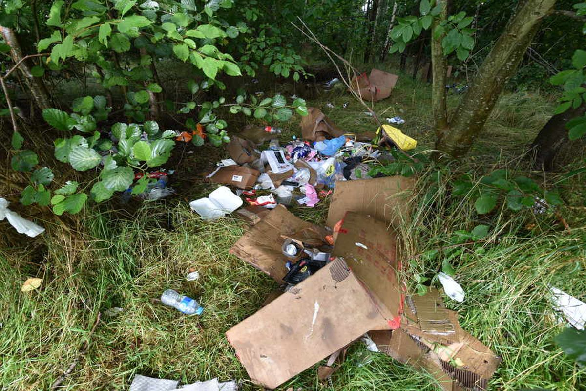 Rubbish left by travellers in a field off Kitchen Lane, Wednesfield