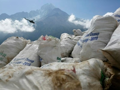 Warning over rubbish left on Everest after record climbing season